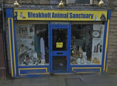Bleakholt Animal Sanctuary Charity shop has it's  windows damaged