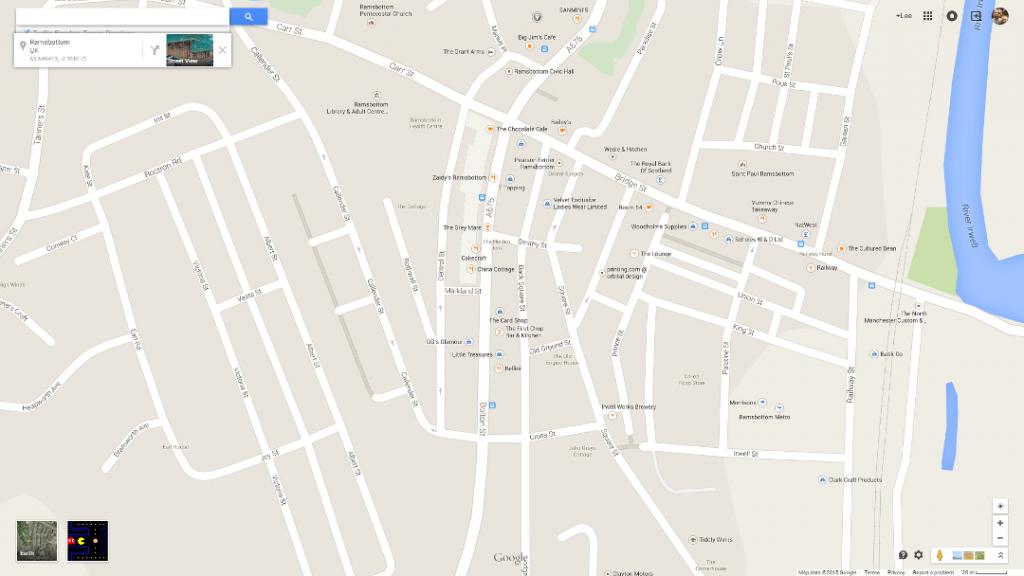 Ramsbottom Google Maps PacMan