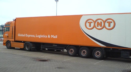 TNT Express Delivery Truck