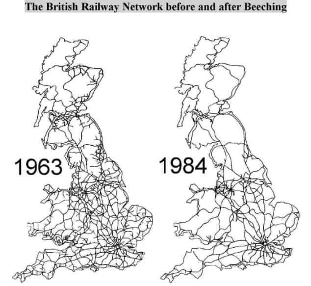 Beeching Rail Map