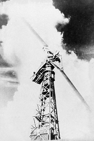The first modern wind turbine was built in 1940's in Vermont.
