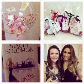 Lucy with Stacey Solomon