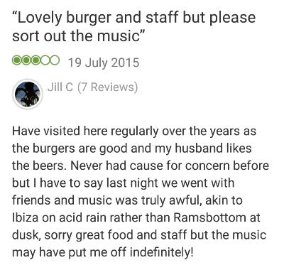 First Chop Trip Advisor review
