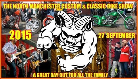 THE NORTH MANCHESTER CUSTOM AND CLASSIC BIKE SHOW Flyer