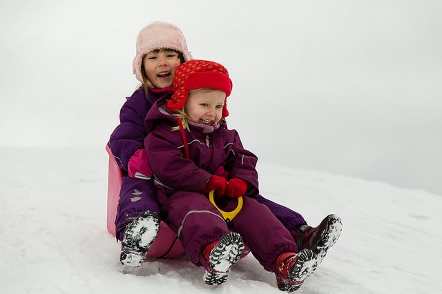 Sledding Girls by Mikael Wiman - Flickr