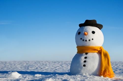 snowman with blank sky