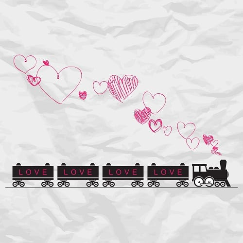 Steam Train Hearts