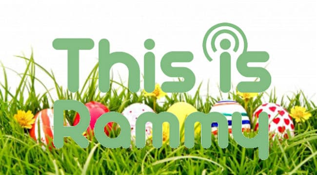 This is Rammy Logo with Eggs Background