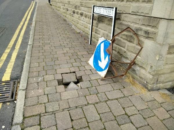 Cross Street Sunken Pavement