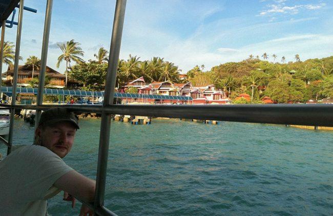 On my honeymoon in Thailand