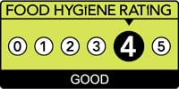 Food Hygiene Rating Four Star Logo